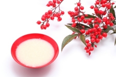 12401574 - japanese sweet mild sake and nandina domestica