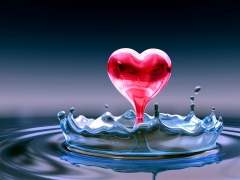 Water Red Heart